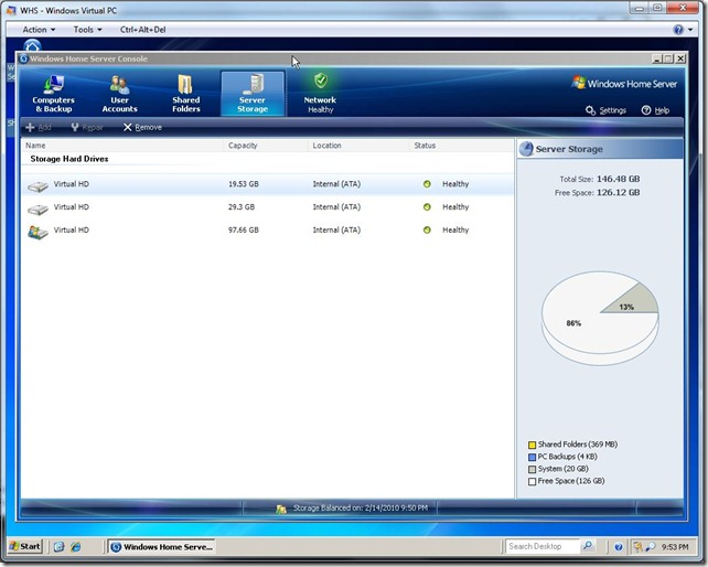 VM Storage Pool with 2 more drives