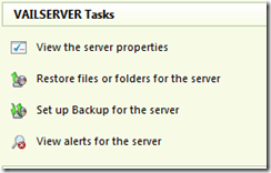 Server Backup Set up Wizard