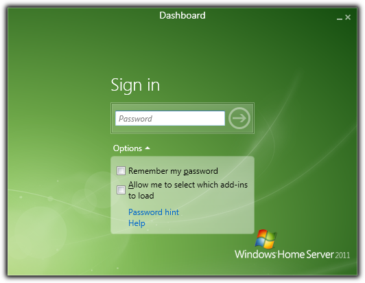 Install the Windows Home Server 2011 Connector