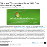 Microsoft, have you seen these comments on Windows Home Server 2011?