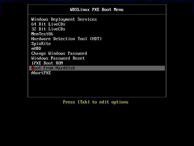 Linux and other bootable ISOs in WDS - Windows Server 2012