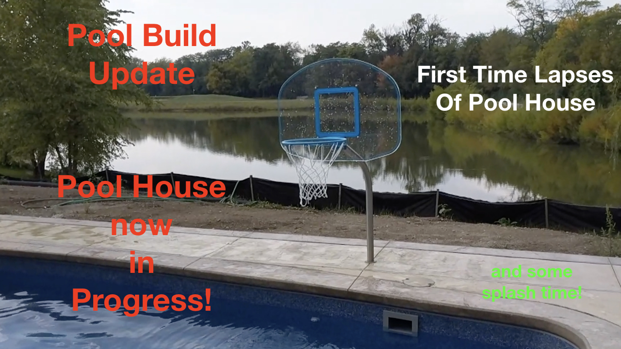 Post in Pool and Pool House Build VLOG Episode 0