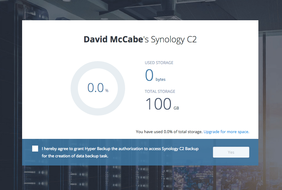 Synology C2 Backup Now Available to US Customers, sort of