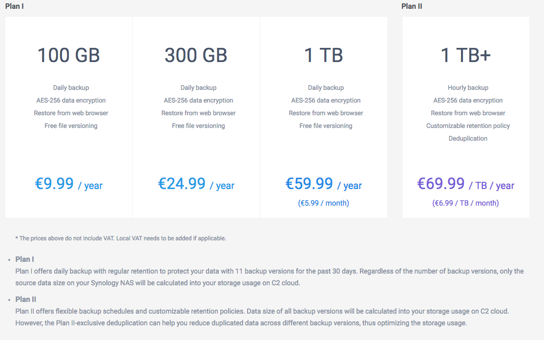 Synology C2 Backup Now Available to US Customers, sort of - Synology