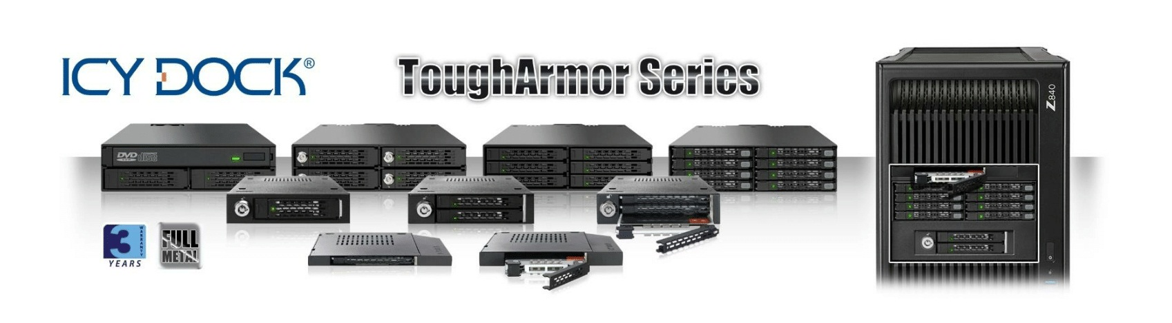 New ToughArmor rugged drive enclosures from ICY DOCK, your storage enclosure specialists!